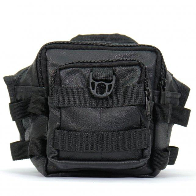 Hot Leathers BPT1103 Black Tactical Thigh Bag