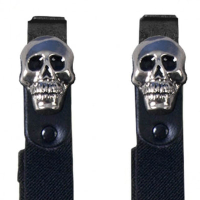 Hot Leathers BUA2010 Skulls Motorcycle Riding Pant Clips