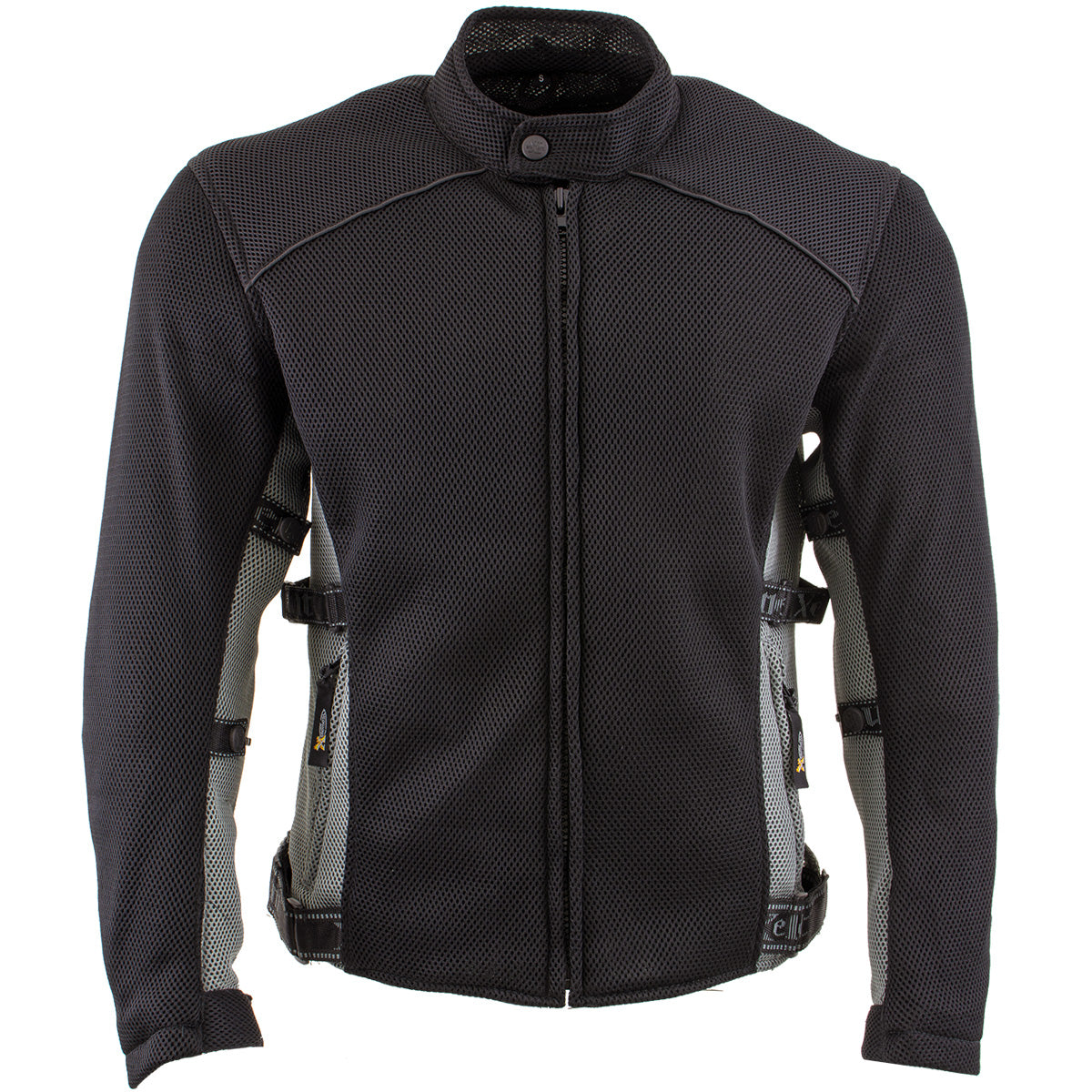 Xelement CF505 Men's Black Advanced Mesh Sports Jacket with X-Armor