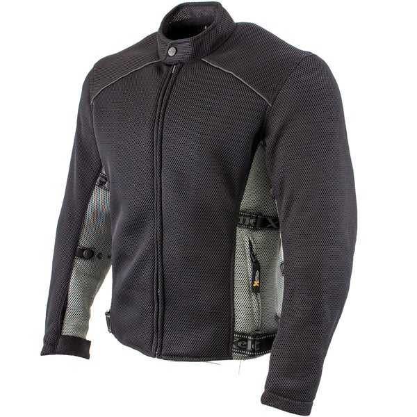 Xelement CF505 Men's Black Advanced Mesh Sports Jacket with X-Armor Protection