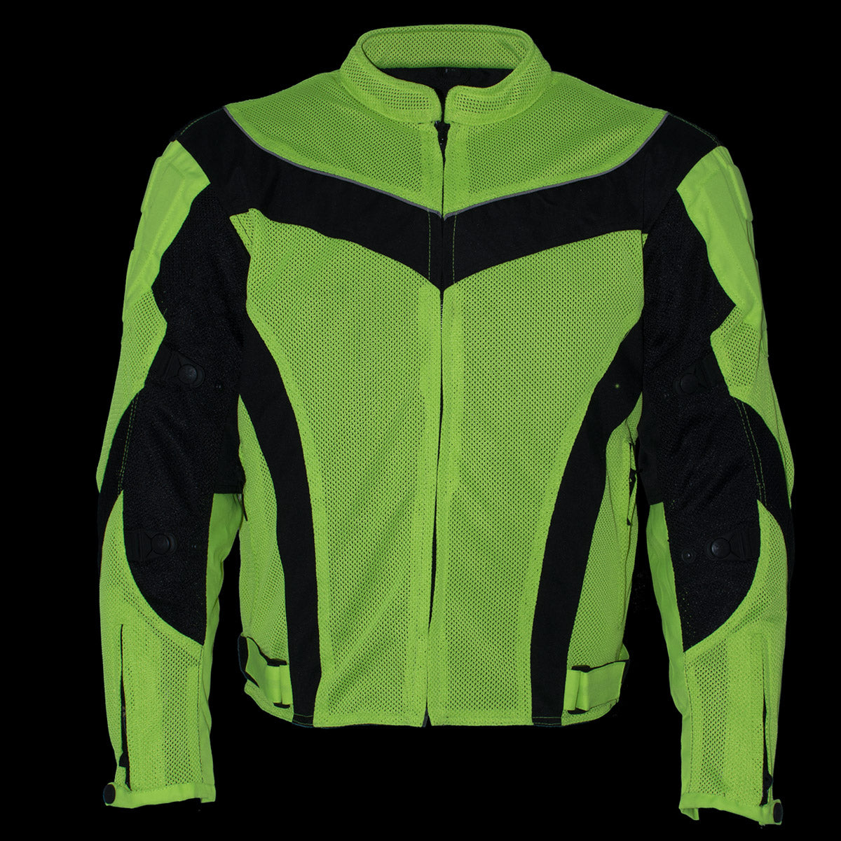 Xelement CF-6019-66 Men's 'Invasion' Neon Green Textile Armored