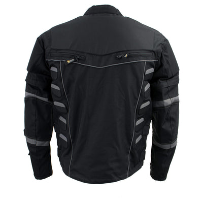 Xelement CF5050 'Morph' Men's Black and Grey Cordura Armored Jacket