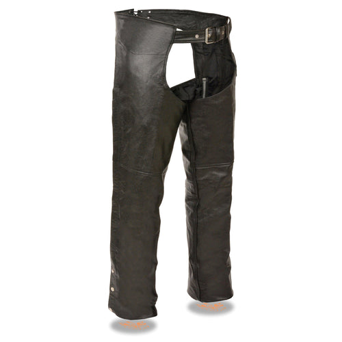 Event Leather EL1117BO Men's Black Classic Leather Chaps with Coin Pocket