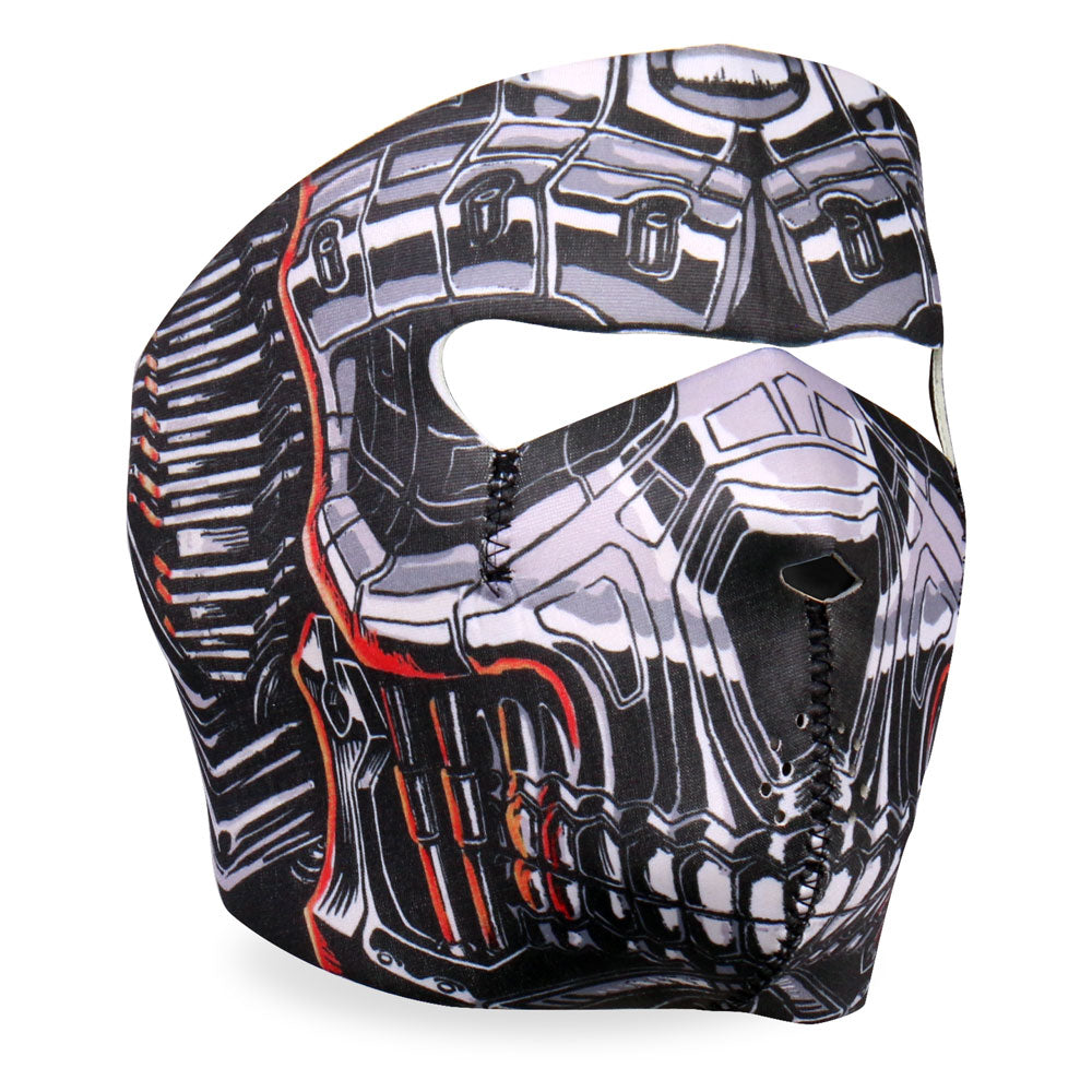 Hot Leathers FMA1022 Robo Skull Neoprene Face Mask