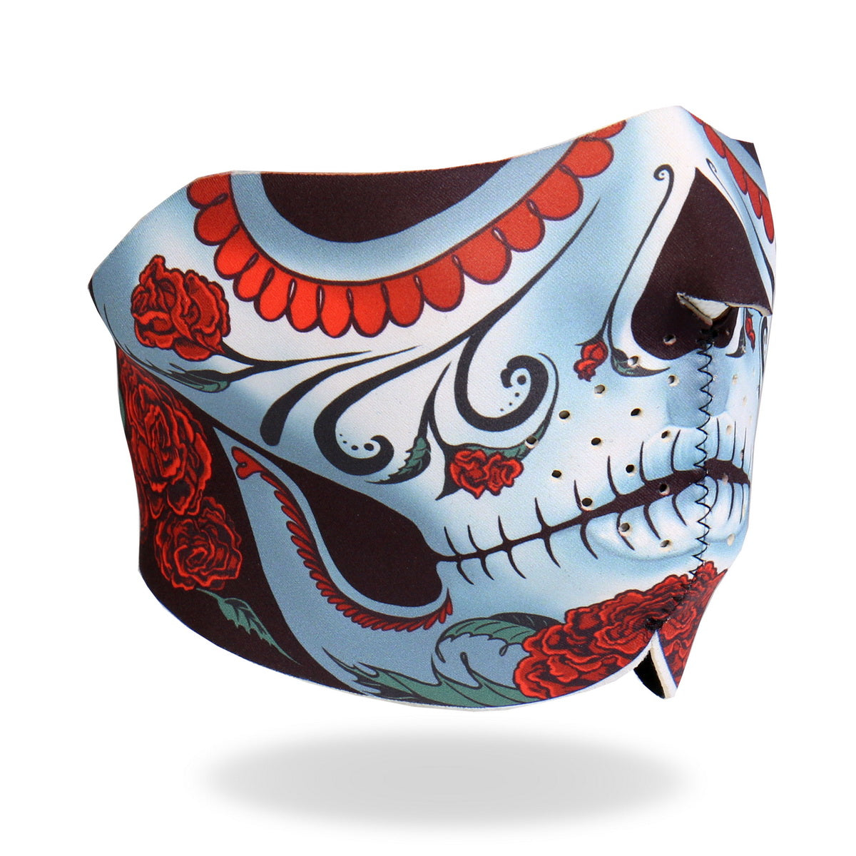 Hot Leathers FMB1005  Calavera Half Face Mask