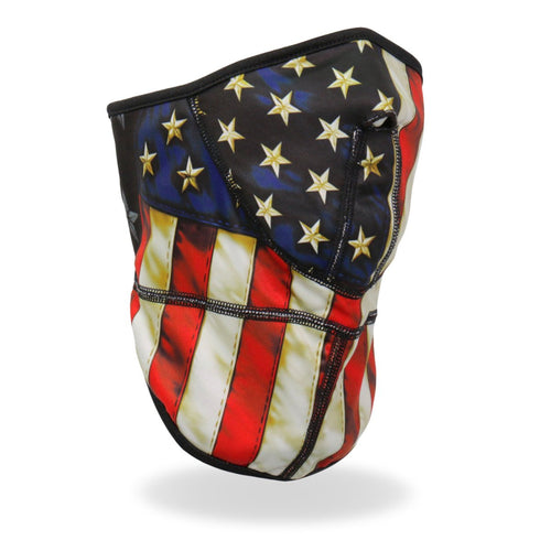Hot Leathers FWC2002 American Flag Face Wrap Neck Warmer