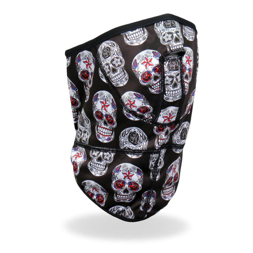 Hot Leathers FWC2007 Sugar Skulls Face Wrap Neck Warmer