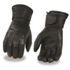 Milwaukee Leather G034 Men's Black Deerskin Leather Thermal Lined Gauntlet Gloves