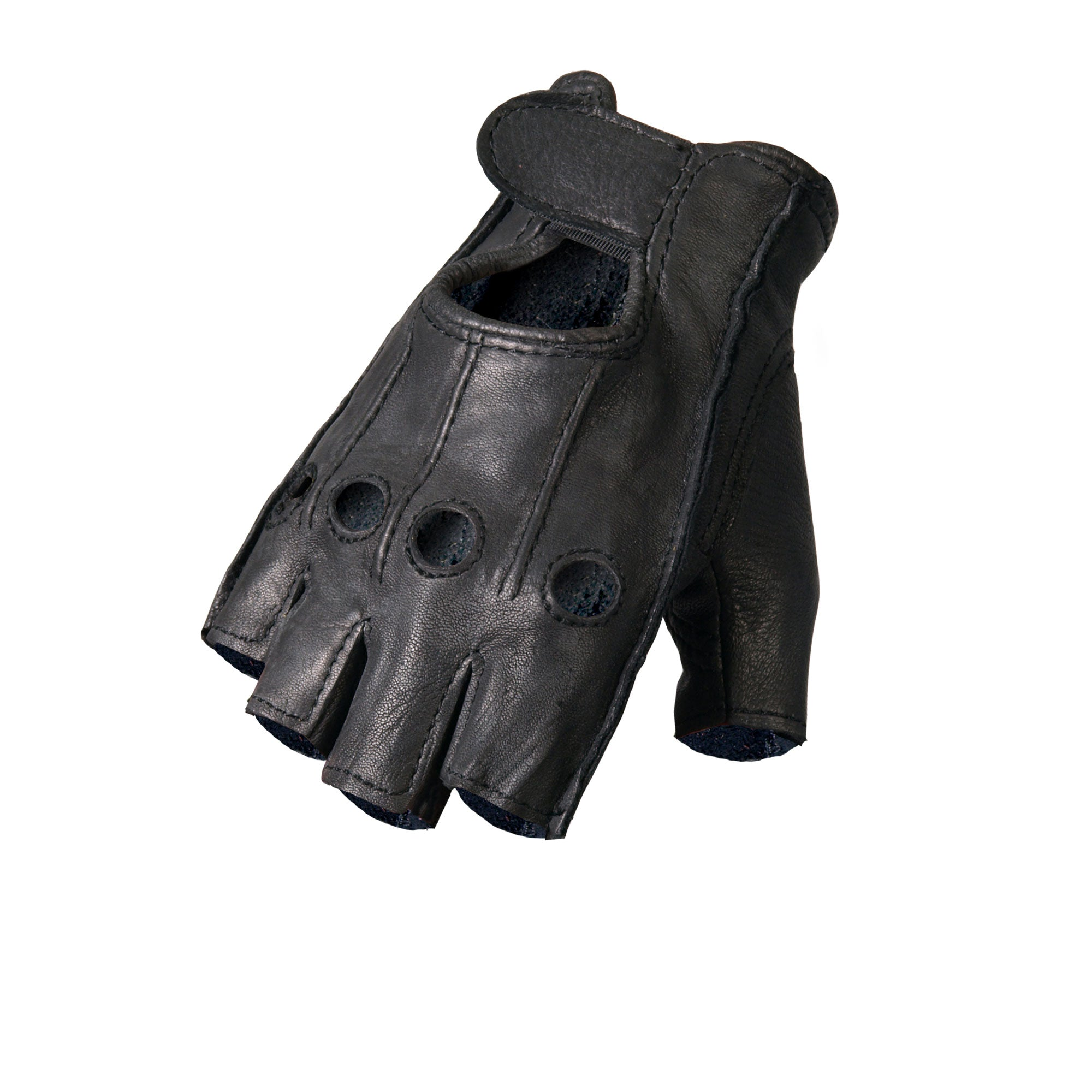 Hot Leathers GVD1005 Deerskin Fingerless Gloves