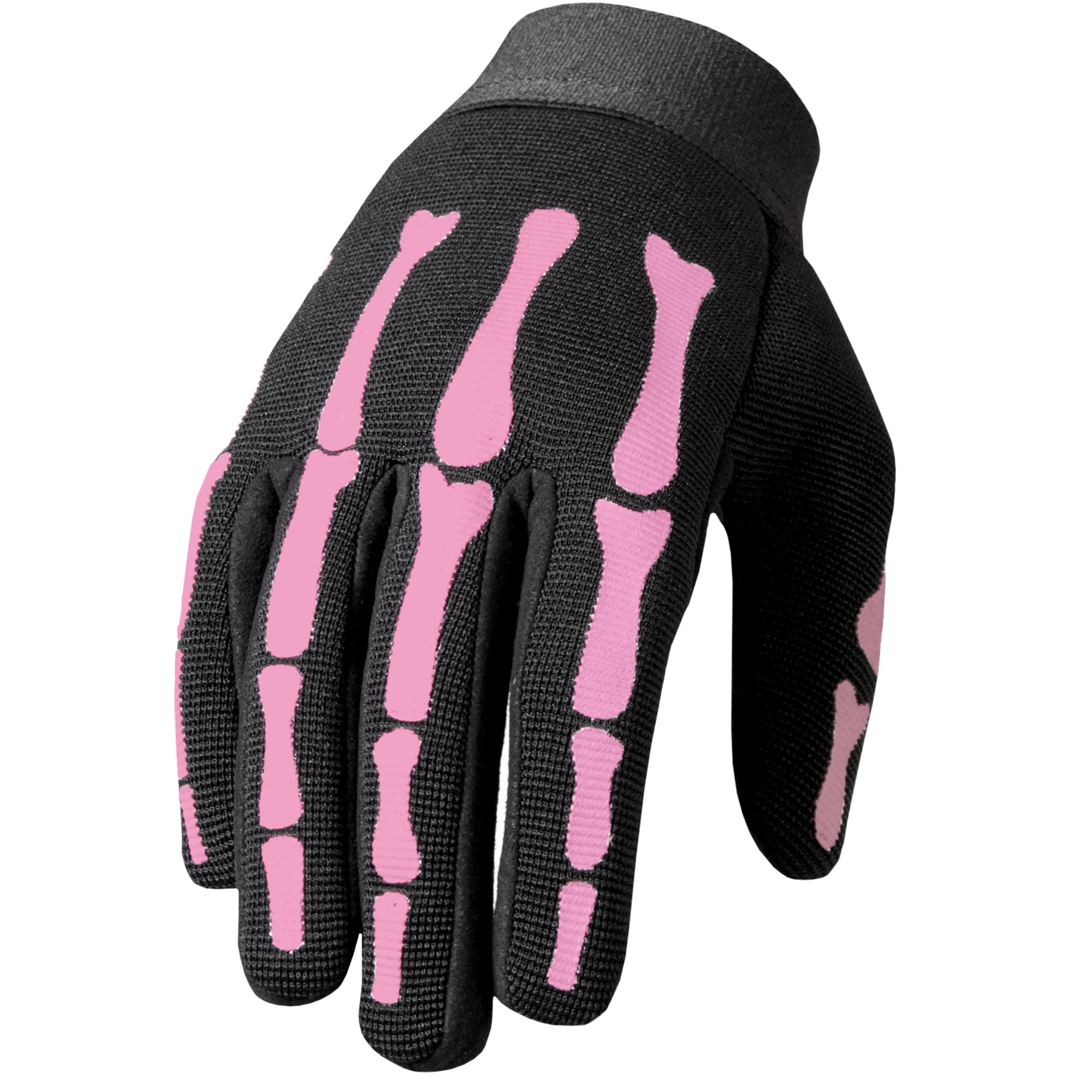 Hot Leathers GVL2006 Pink Skeleton Ladies Mechanics Gloves
