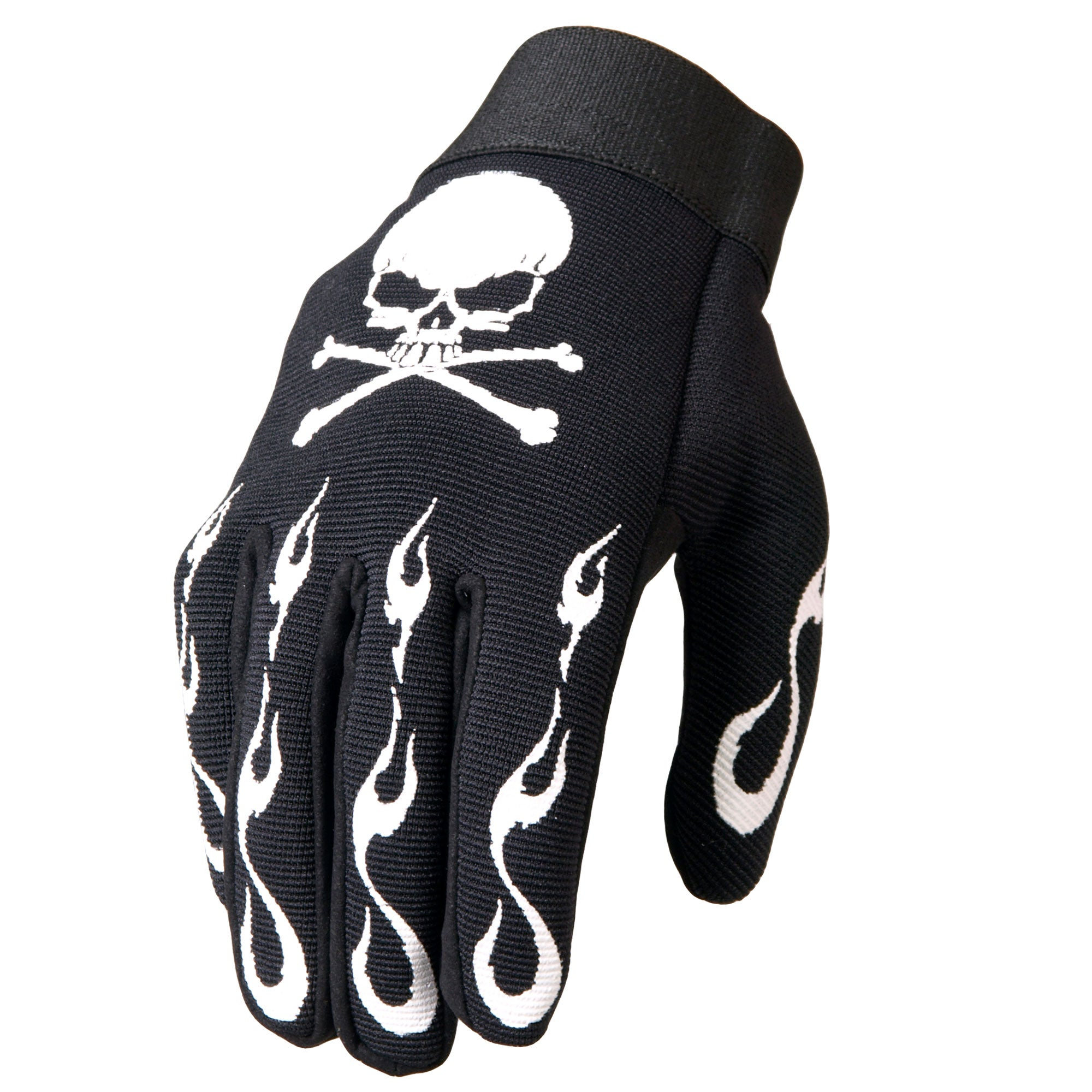 Hot Leathers GVM2006 Skull and Crossbones Mechanics Gloves