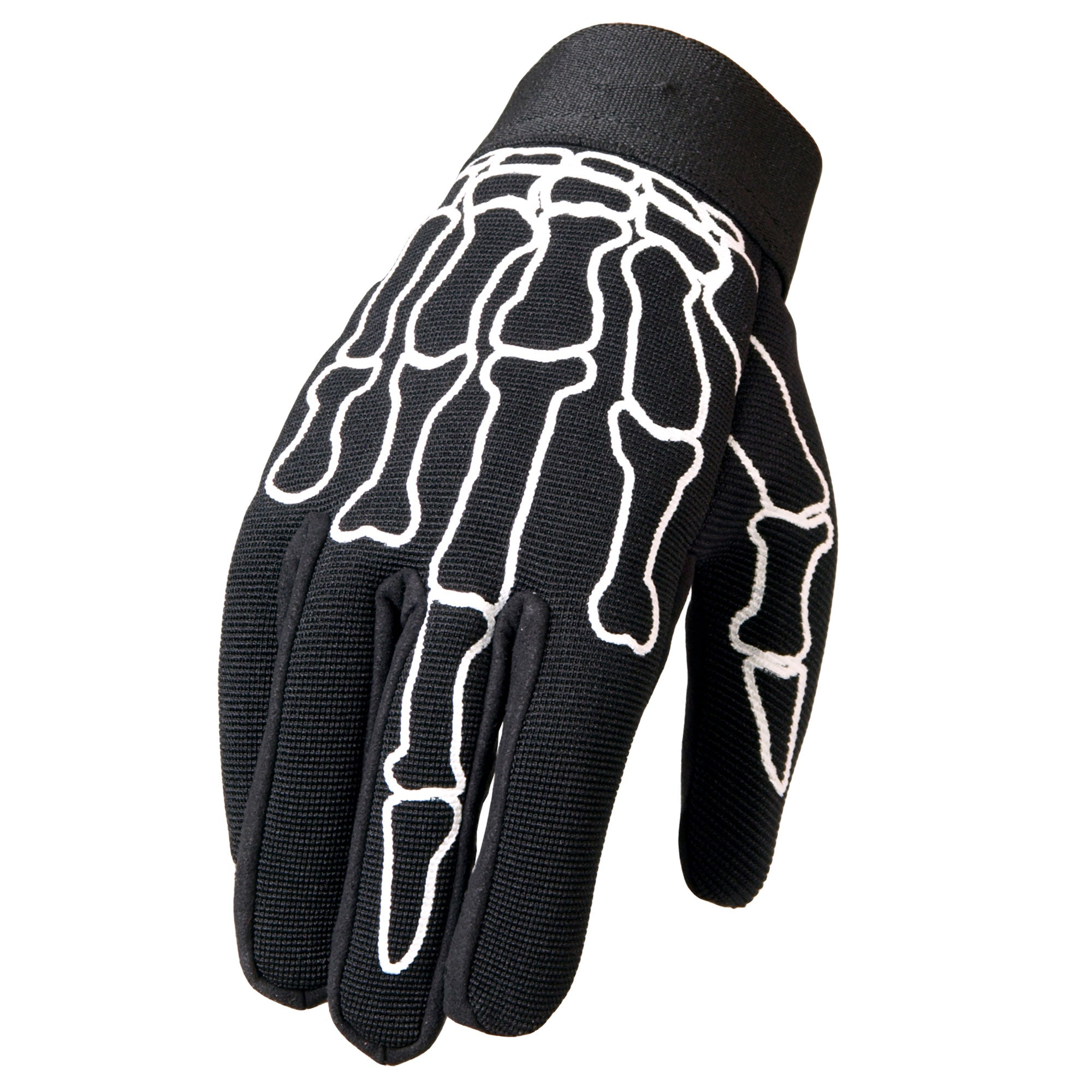 Hot Leathers GVM2011 Skeleton Finger Mechanics Gloves
