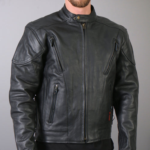 Hot Leathers JKM1010 Men's Vented Leather Jacket