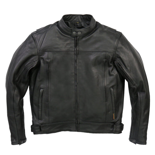 Hot Leathers JKM1021 Mens Carry Conceal Vented Scooter Leather Jacket