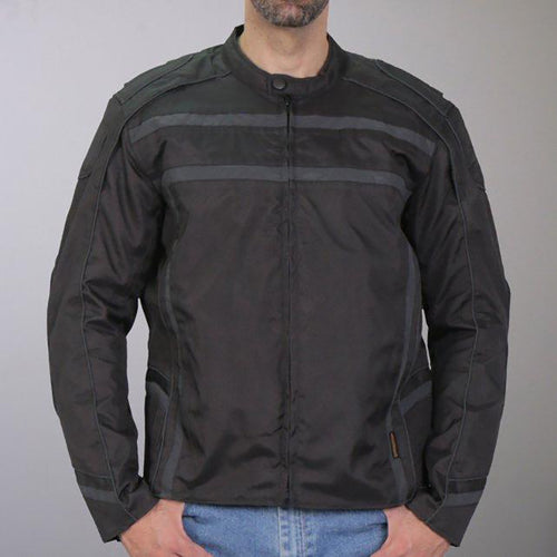 Hot Leathers JKM1023 Men's Black High Visibility Nylon Jacket with Concealed Carry Pocket