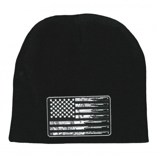 Hot Leathers KHB5010 USA Flag Bullets Knit Hat