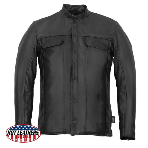Hot Leathers LCS5001 Men's USA Made Premium Leather Shirt