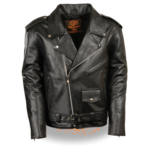 Milwaukee Leather LKY1950 Youth Size Classic Style Police Biker Leather Jacket