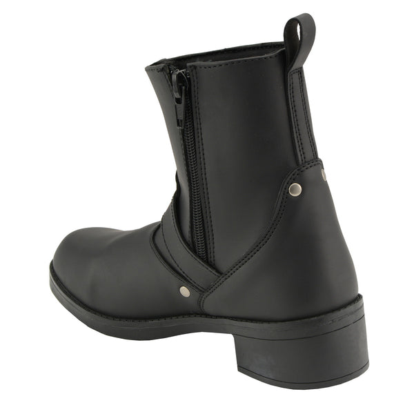 Milwaukee Leather MBK9295 Kids 6 inch Engineer Style Biker Boots
