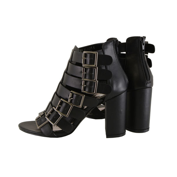 Milwaukee Performance MBL9420 Ladies Black Strappy Sandal with Block Heel