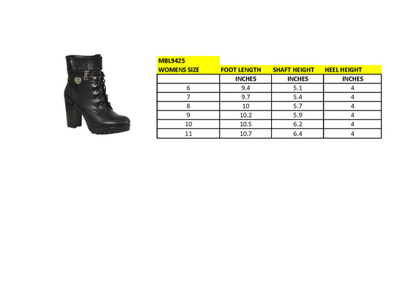 Milwaukee Performance MBL9425 Women's Black Lace-Up Boots with Double Height Option