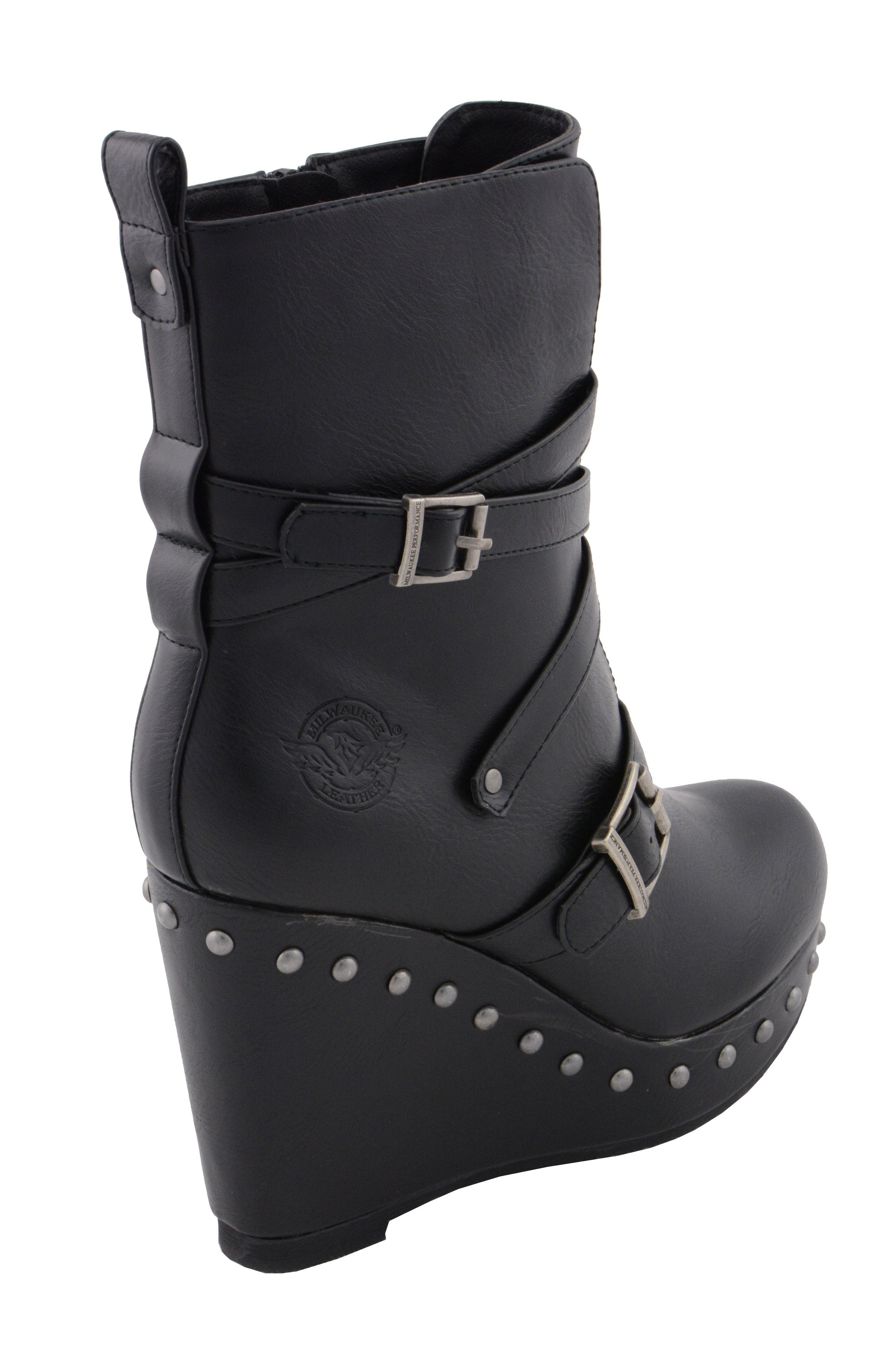 Milwaukee Performance MBL9437 Womens Black Triple Strap Boot with