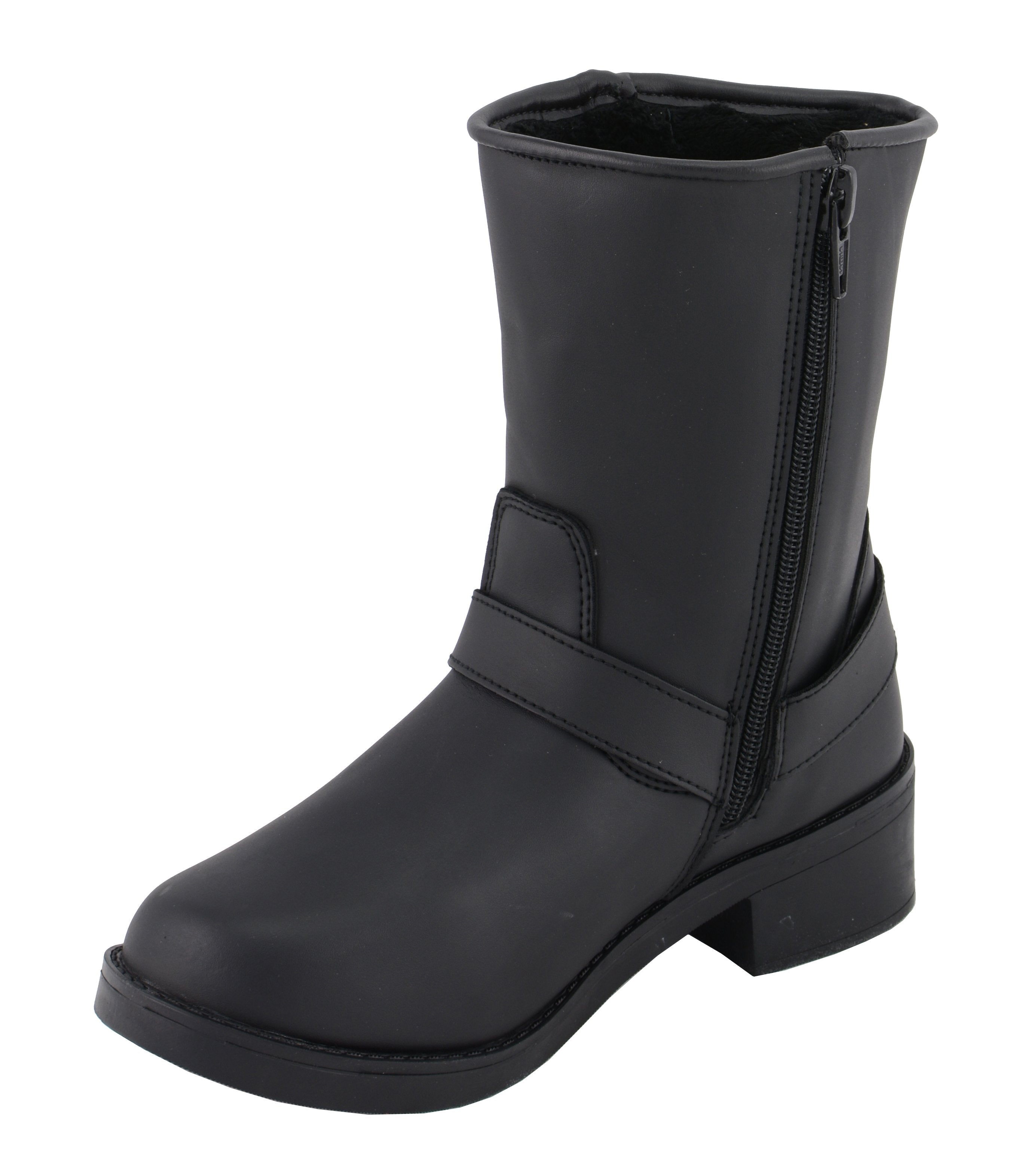 Milwaukee Leather MBL9475 Ladies Black Engineer Style Riding Boots