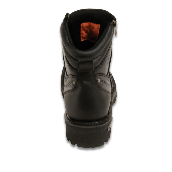 Milwaukee Leather MBM9050 Mens Wide Width Black 6 inch Lace-Up Boots