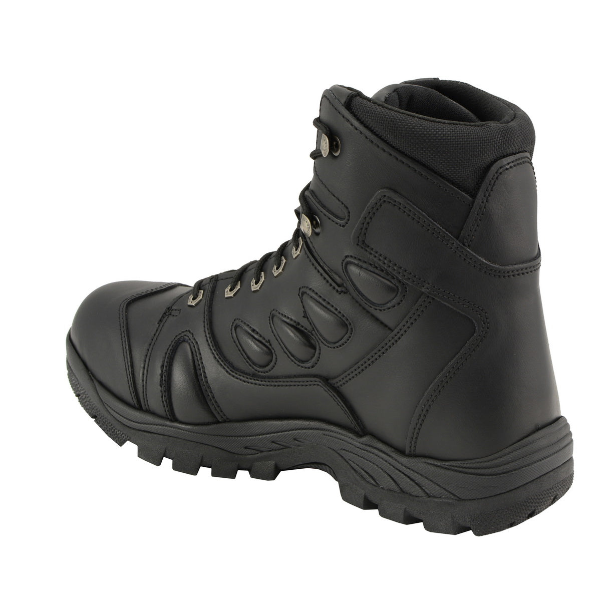 Milwaukee Leather MBM9115 Mens Black 6 inch All Leather Tactical Boot