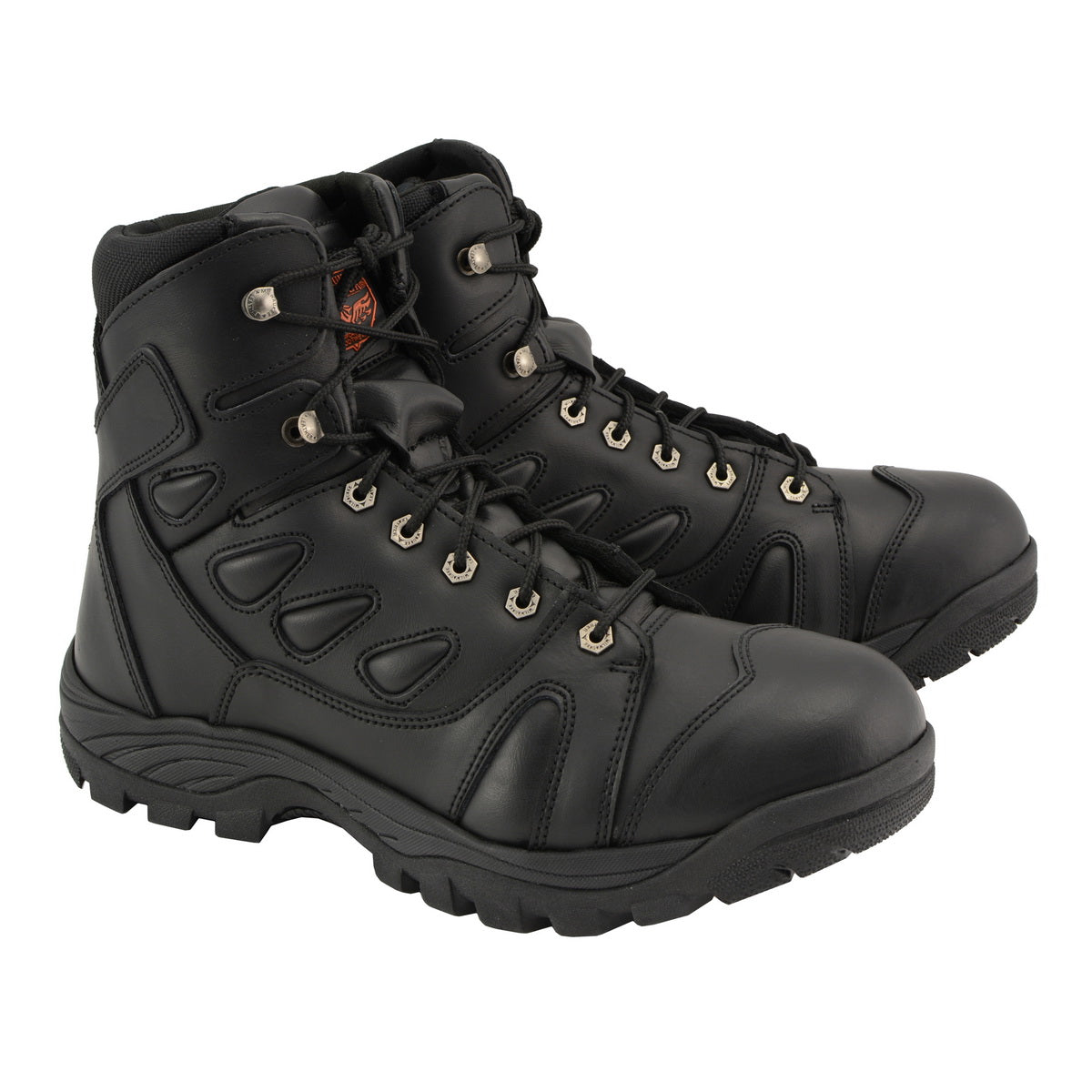 Milwaukee Leather MBM9115 Mens 6 inch All Leather Tactical Boot with Side Zipper