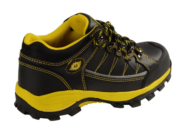 Bazalt MPM9120 Men's Black and Yellow Water and Frost Proof Leather