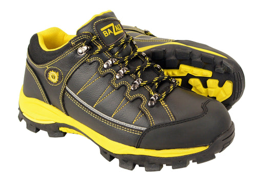 Bazalt MPM9120 Men's Black and Yellow Water and Frost Proof Leather Outdoor Lace-Up Shoes