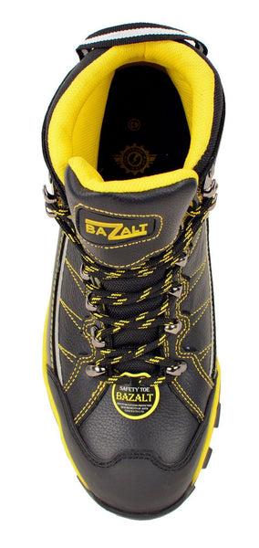 Bazalt MBM9123ST Men's Black with Yellow Water and Frost Proof Leather