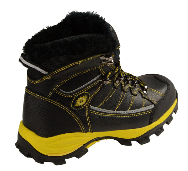 Bazalt MPM9124 Men's Faux Fur Lined Black with Yellow Water and Frost