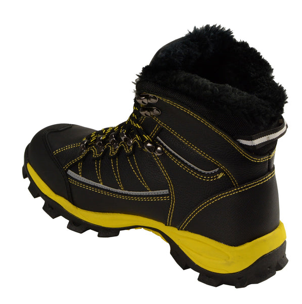 Bazalt MPM9125ST Men's Faux Fur Lined Black with Yellow Water and