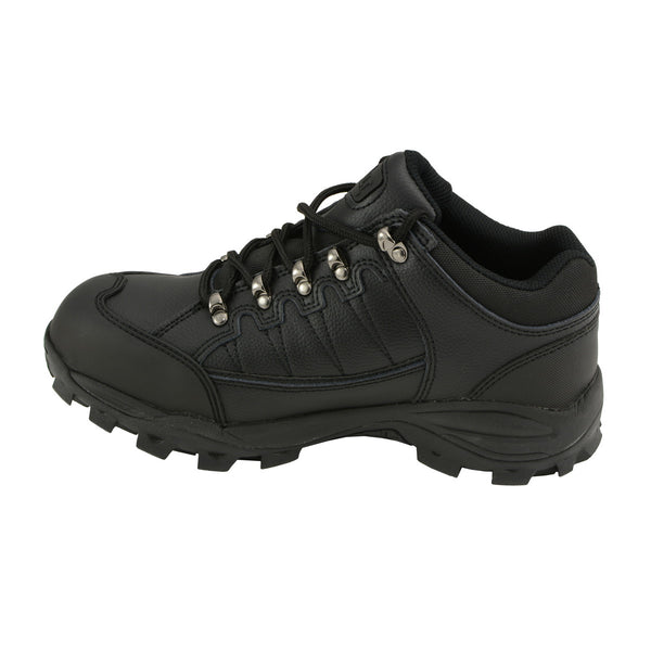 Bazalt MBM9127ST Men's Black Water and Frost Proof Leather Shoes with Composite-Toe