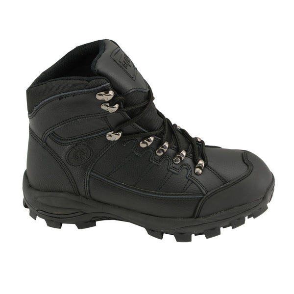 Bazalt MBM9128 Men's Black Water and Frost Proof Leather Lace-Up Work Boots