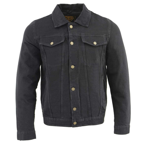 Milwaukee Leather MDM1015 Men's Black Classic Denim Jean Jacket