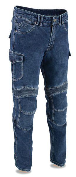 Milwaukee Performance MDM5012 Men's Blue Armored Straight Cut Denim Jeans Reinforced with Aramid by DuPont Fibers