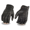Milwaukee Leather MG7521 Men's Leather Glove with Gel Palm & Knuckle Protectors