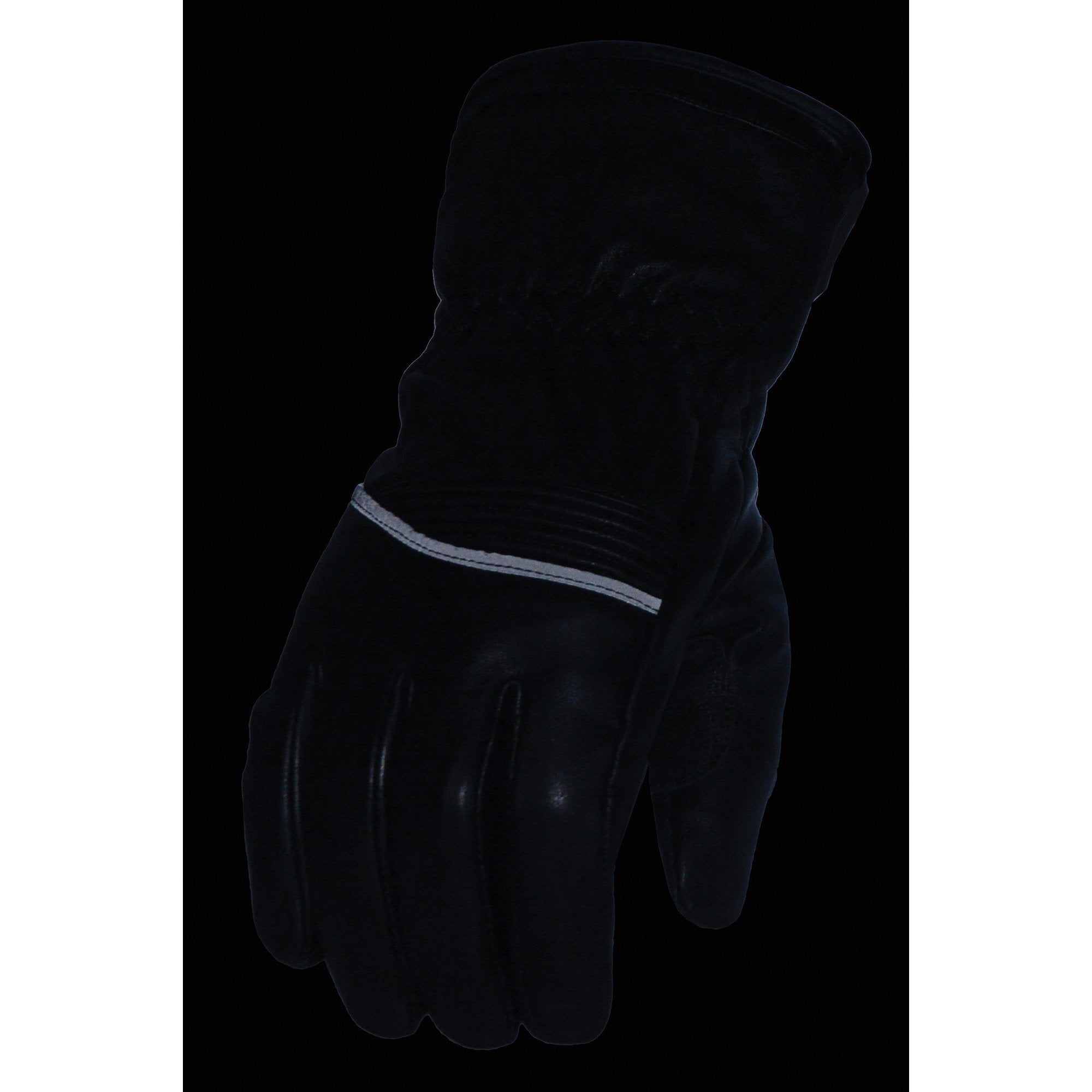 Milwaukee Leather MG7551 Men's 'Touch Screen Fingers' Waterproof Black