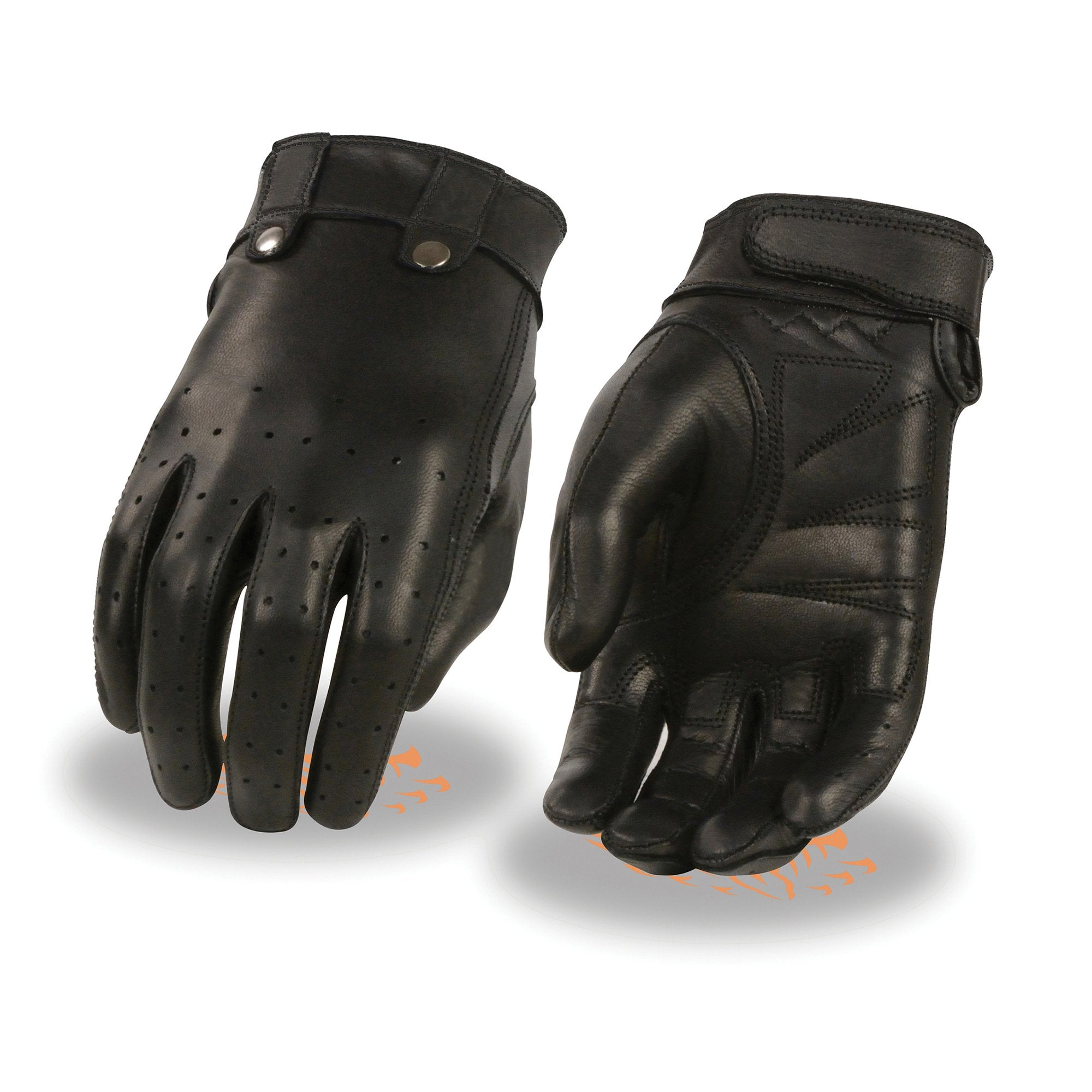 Milwaukee Leather MG7710 Ladies Leather Driving Glove with Perforated