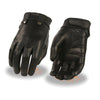 Milwaukee Leather MG7710 Ladies Black Perforated Leather Driving Gloves with Gel Palm