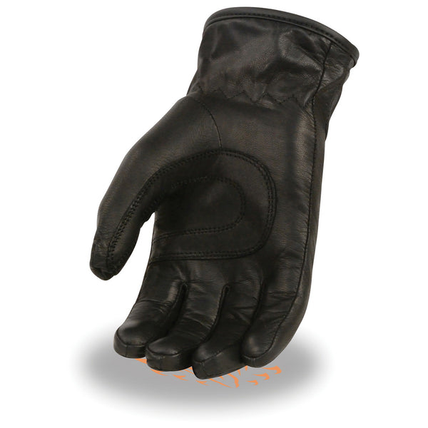 Milwaukee Leather MG7713SET Women's Black 'Heated' Leather Waterproof Gauntlet Gloves with i-Touch (Battery Pack Included)