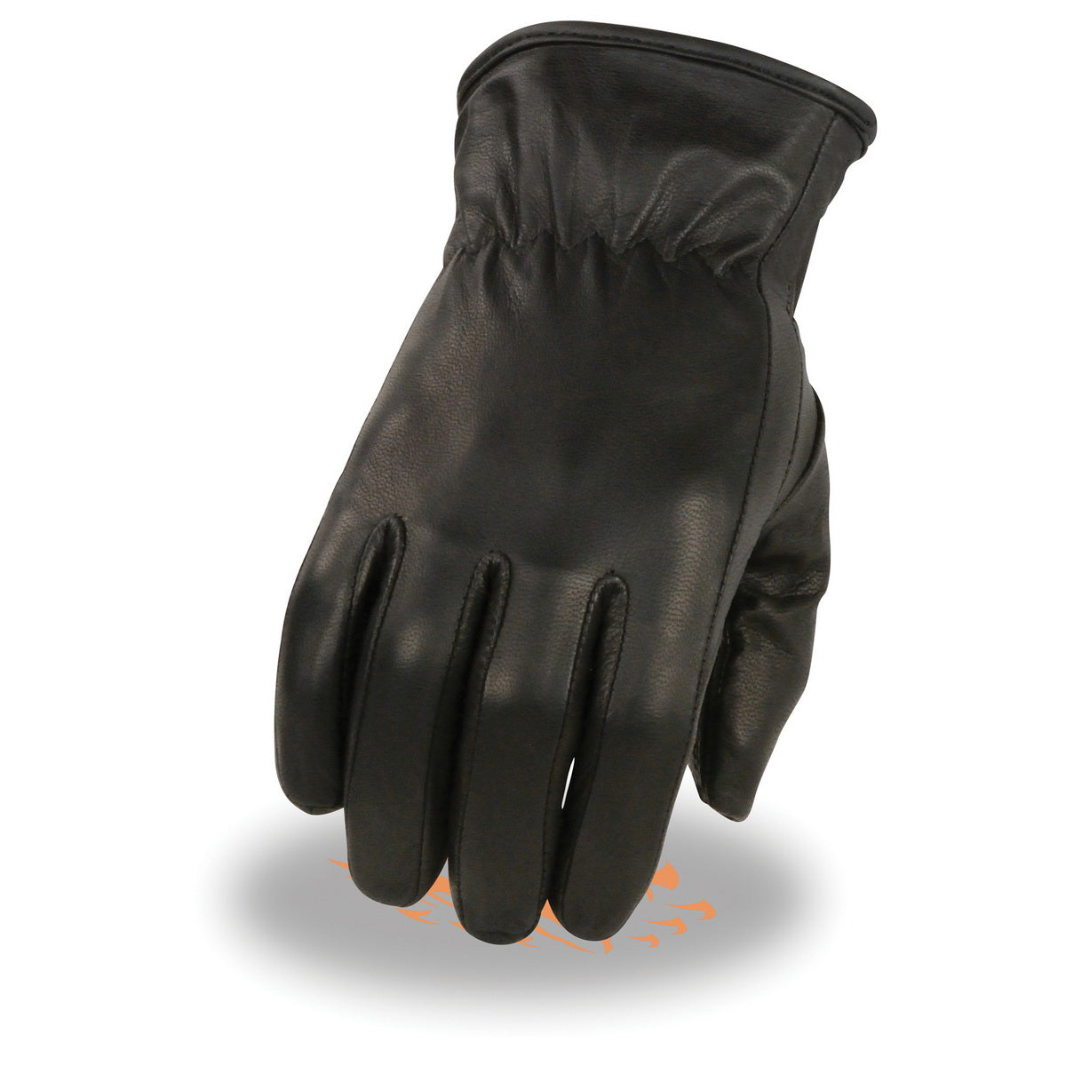 Milwaukee Leather MG7715 Ladies 'Thermal Lined ' Black Leather Gloves