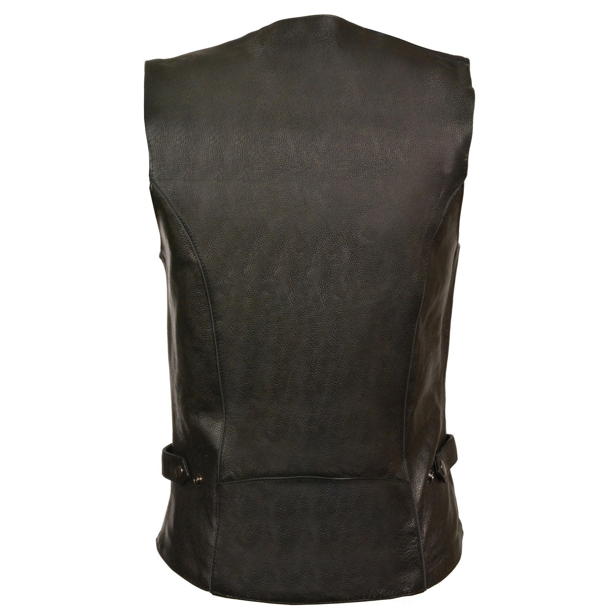 Milwaukee Leather ML1296 Women's Black Leather Vest with Reflective