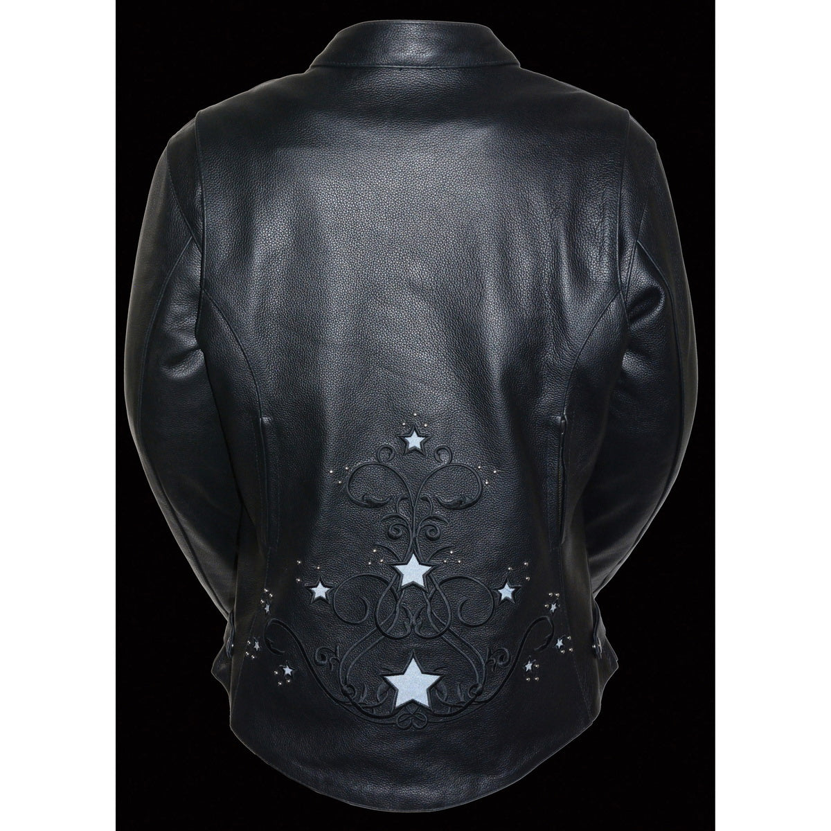 Milwaukee Leather ML2500 Women's Reflective Star Riveted Black Leather