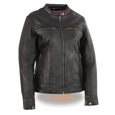 Milwaukee Leather MLL2551 Women's Black Vented Lightweight Leather