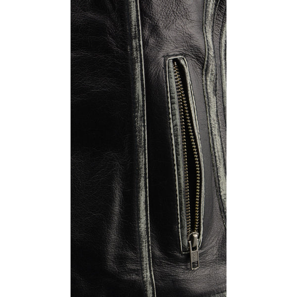 Milwaukee Leather MLL4526 Women's Distressed Grey Leather Vest