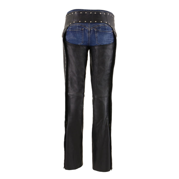 Milwaukee Leather MLL6503 Ladies Black Classic Leather Chaps with